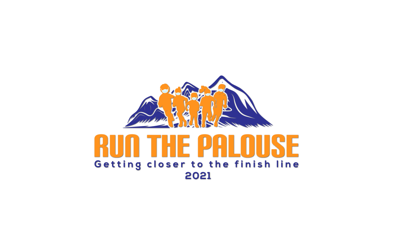 run the palouse logo kids running with masks